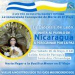 A los pies de Nuestra Madre y Patrona de Nicaragua