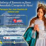 Novenario a la Purísima Concepción desde la Parroquia San Juan Bautista en Sutiaba, León